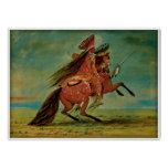 Crow Chief by George Catlin 1850 Print