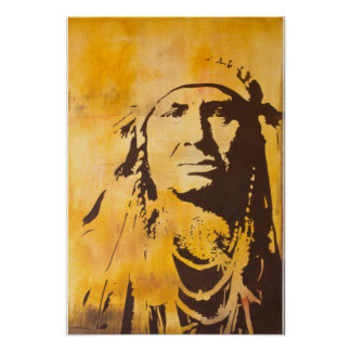 "Crow Chief from painting entitled ""Be Brave"". Poster"