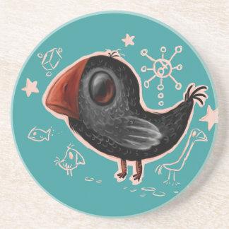 crow drink coaster
