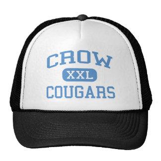 Crow - Cougars - Crow High School - Eugene Oregon Hats