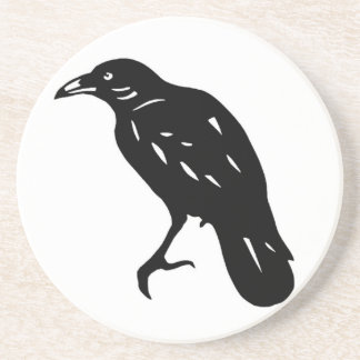 CROW crow crow crow goods cutting picture Drink Coasters