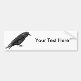 Crow ~ Crows Bird Customize Template Bumper Sticker