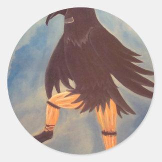 Crow Dancer Round Sticker