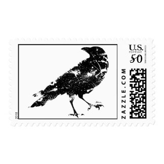 Crow Distressed Stamp