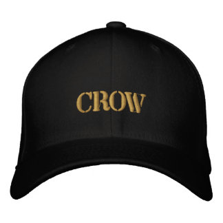 CROW EMBROIDERED BASEBALL CAP