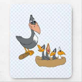 Crow Family Mouse Pad