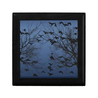 Crow flock keepsake box