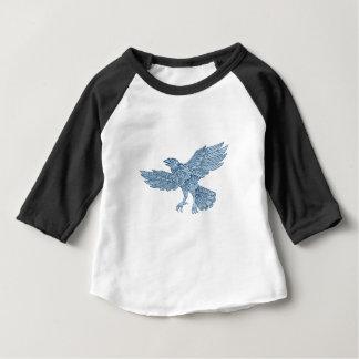 Crow Flying Mandala Baby T-Shirt