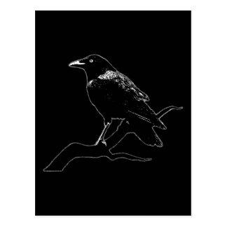 Crow (for dark backgrounds) tarjeta postal