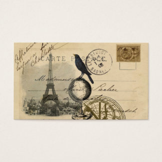 Crow Globe Paris Business Card