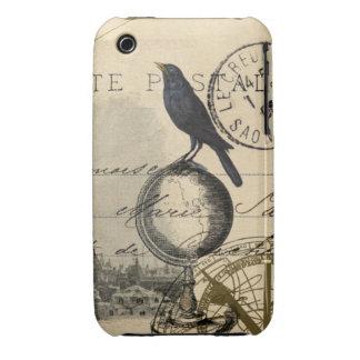 Crow Globe Paris French Case iPhone 3 Cases