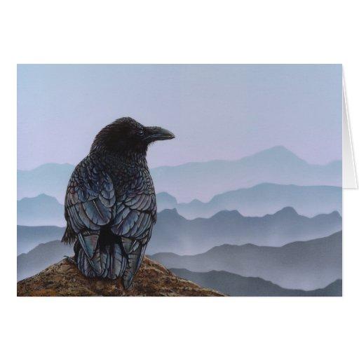 Crow Greeting Card
