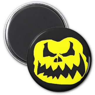 Crow head yellow 2 inch round magnet