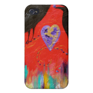 Crow Heart iPhone 4/4S Cases