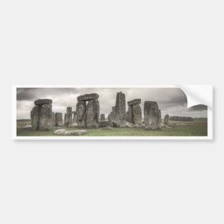 Crow in front of Stonehenge, England Bumper Sticker