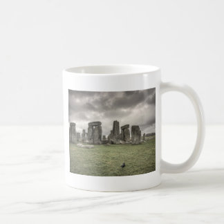 Crow in front of Stonehenge, England Coffee Mugs