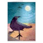 Crow in Moonlight Card