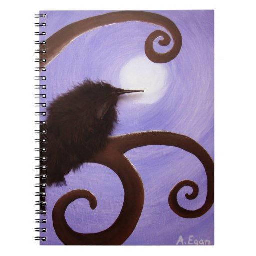 Crow in moonlight note books