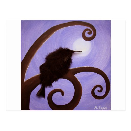 Crow in moonlight post cards