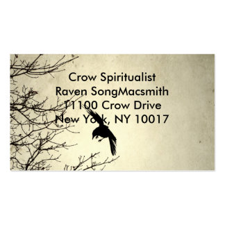 Crow In Motion Double-Sided Standard Business Cards (Pack Of 100)