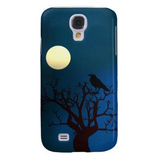 Crow In Tree Under Eerie Moonlight Galaxy S4 Case