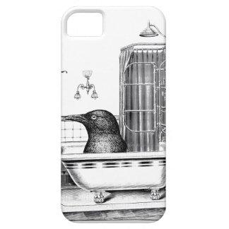 Crow In Vintage Bathtub iPhone SE/5/5s Case
