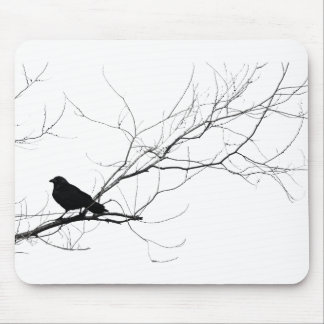 Crow in Winter Mouse Pad