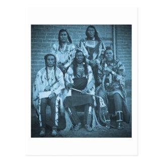 Crow Indian Chiefs 1879 Postcard