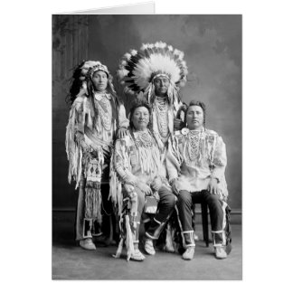 Crow Indian Group Portrait, early 1900s Card