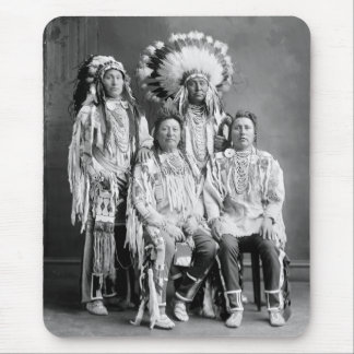 Crow Indian Group Portrait, early 1900s Mouse Pad
