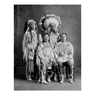 Crow Indian Group Portrait, early 1900s Poster