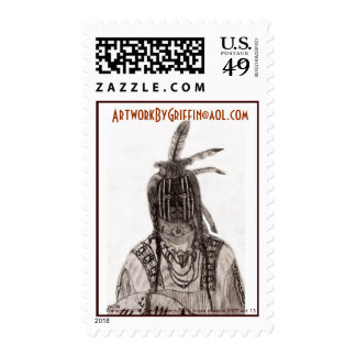 Crow Indian Warrior 2007 age 13 Postage Stamps