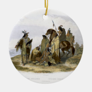 Crow Indians, plate 13 from volume 1 of `Travels i Christmas Tree Ornaments