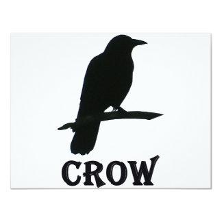 "Crow 4.25"" X 5.5"" Invitation Card"