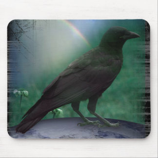 CROW KNOW EARTH MOUSE PAD