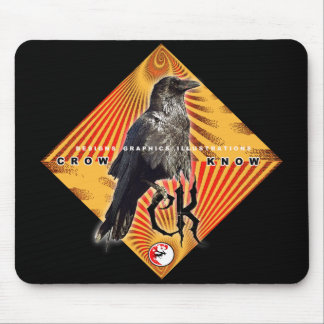 CROW KNOW PYRAMID MOUSE PAD
