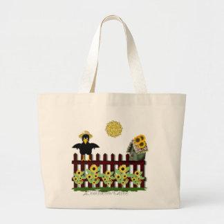 crow large tote bag
