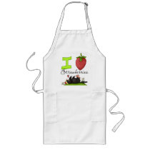 Crow Loves Strawberries Apron
