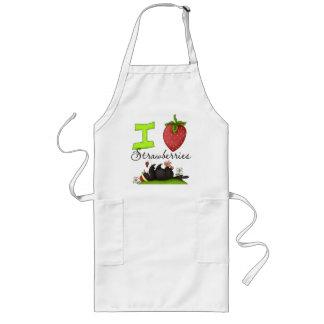 Crow Loves Strawberries Apron