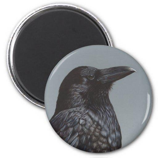Crow Refrigerator Magnet
