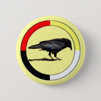 Crow Medicine Button