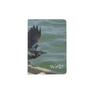 Crow Monogrammed Passport Holder