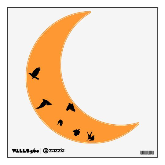 Crow Moon Wall Decal