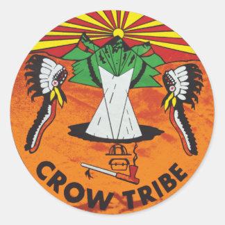 Crow Nation Classic Round Sticker