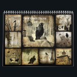 """Crow Oddity Collage 2019 Calendar<br><div class=""""desc"""">Crow oddity collage calendar 2019 has crows,  and other oddities in a quirky mix of images.  One different collage image for each month in vibrant colors.</div>"""