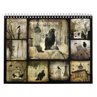 Crow Oddity Collage 2019 Calendar