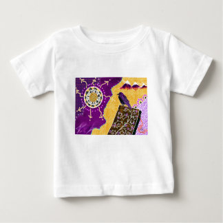 Crow on a book baby T-Shirt