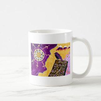 Crow on a book coffee mug
