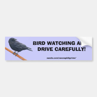 CROW ON A CABLE Bumper Sticker