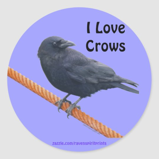 CROW ON A CABLE Stickers